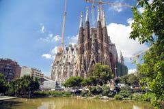 La Sagrada Familia in Barcelona, Spain Stock Images
