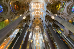La Sagrada Familia in Barcelona Stock Images