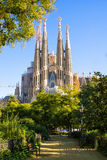 La Sagrada Familia, Barcelona, Spain. BARCELONA, SPAIN - NOVEMBER 18: La Sagrada Familia, the cathedral designed by architect Gaudi, which is being build since Stock Images
