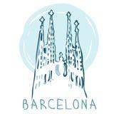La Sagrada Familia, Barcelona, Spanien. lizenzfreie abbildung