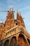 La Sagrada Familia, Barcelona Spanien Arkivbilder