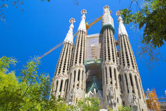 La Sagrada Familia in Barcelona, Spanje Royalty-vrije Stock Fotografie
