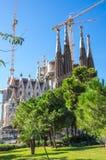 La Sagrada Familia. Basilica and Expiatory Church of the Holy Family is a large Roman Catholic church in Barcelona, designed by Catalan Spanish architect Antoni Royalty Free Stock Photography