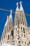La Sagrada Familia. Basilica and Expiatory Church of the Holy Family is a large Roman Catholic church in Barcelona, designed by Catalan Spanish architect Antoni Royalty Free Stock Photos