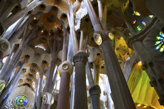 La Sagrada Familia Cathedral Barcelona Royalty Free Stock Photos