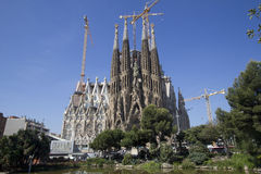 La Sagrada Familia Cathedral, Barcelona Royalty Free Stock Photos