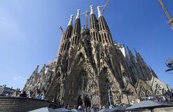 La Sagrada Familia Cathedral, Barcelona Stock Images