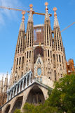 La Sagrada Familia, the cathedral designed by Antoni Gaudi Royalty Free Stock Images