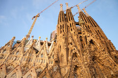 La Sagrada Familia, the cathedral designed by Antoni Gaudi Stock Photography