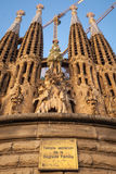 La Sagrada Familia, cathedral designed by Antoni Gaudi Royalty Free Stock Photo