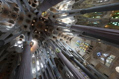 La Sagrada Familia,cathedral designed by Gaudi Royalty Free Stock Images