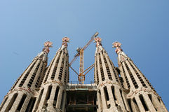 La Sagrada Familia - the cathedral designed by Gaudi in Barcelon Stock Photography