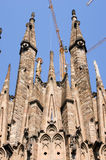 La Sagrada Familia - the cathedral designed by Gaudi in Barcelon Royalty Free Stock Image