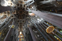 La Sagrada Familia,cathedral designed by Gaudi Stock Images