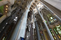 La Sagrada Familia,cathedral designed by Gaudi Stock Photography