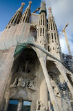 La Sagrada Familia, the cathedral designed by Gaudi, which is being build since 19 March 1882. Royalty Free Stock Images