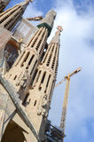 La Sagrada Familia, the cathedral designed by Gaudi, which is being build since 19 March 1882. Royalty Free Stock Image