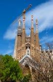 La Sagrada Familia Cathedral under construction, Barcelona, Spain Stock Photography