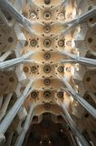 La Sagrada Familia ceiling Stock Photos