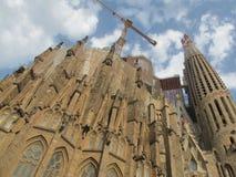 La Sagrada Familia with clouds Royalty Free Stock Image