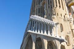La Sagrada Familia - den mäktiga domkyrkan planlade vid Gaudi Arkivfoton