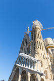 La Sagrada Familia - den mäktiga domkyrkan planlade vid Gaudi Arkivfoto
