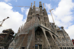 La Sagrada Familia, designed by Antoni Gaudi, in Barcelona. Stock Image