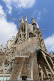 La Sagrada Familia, designed by Antoni Gaudi, in Barcelona. Stock Photo
