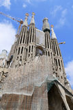 La Sagrada Familia, designed by Antoni Gaudi, in Barcelona. Royalty Free Stock Photo