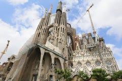 La Sagrada Familia, designed by Antoni Gaudi, in Barcelona. Royalty Free Stock Photo