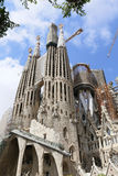 La Sagrada Familia, designed by Antoni Gaudi, in Barcelona. Royalty Free Stock Photography