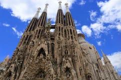 La Sagrada Familia. El Exterior de la Sagrada Familia en Barcelona- España Stock Photography