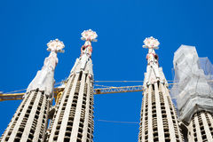 La Sagrada Familia en Barcelona is one of the most iconic buildi Royalty Free Stock Photo