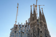 La Sagrada Familia en Barcelona is one of the most iconic buildi Stock Photography