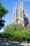 La Sagrada Familia en Barcelona is one of the most iconic buildi Royalty Free Stock Image