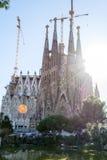 La Sagrada Familia en Barcelona is one of the most iconic buildi Stock Photography