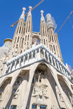 La Sagrada Familia en Barcelona is one of the most iconic buildi Royalty Free Stock Photos