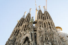 La Sagrada Familia en Barcelona is one of the most iconic buildi Royalty Free Stock Photography