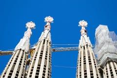 La Sagrada Familia Engels Barcelona is één van meest iconische buildi Royalty-vrije Stock Foto