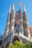 La Sagrada Familia facade, Barcelona city, Spain Royalty Free Stock Image