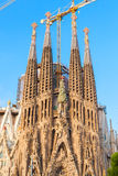 La Sagrada Familia facade, Barcelona, Spain Stock Images