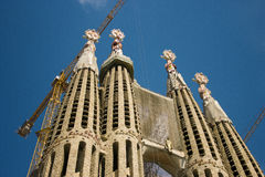 La Sagrada Familia by Gaudi in Barcelona Royalty Free Stock Photos