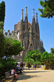 La Sagrada Familia i Barcelona, Spanien Arkivbild