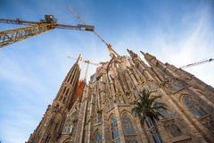 La Sagrada Familia - the impressive cathedral designed by Gaudi Royalty Free Stock Image