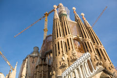 La Sagrada Familia - the impressive cathedral designed by Gaudi Stock Images