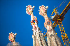 La Sagrada Familia - the impressive cathedral designed by Gaudi Stock Image