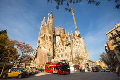 La Sagrada Familia - the impressive cathedral designed by Gaudi Stock Photo