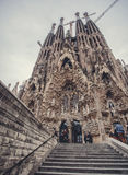 La Sagrada Familia. The impressive cathedral designed by Gaudi Royalty Free Stock Photo