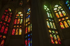 La Sagrada Familia - the impressive cathedral designed by Gaudi, Royalty Free Stock Photo