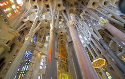 La Sagrada Familia interior Stock Photos